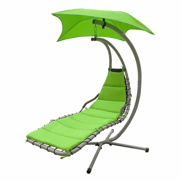 Iris Arc Hanging Chaise Lounger with Stand by Freeport Park
