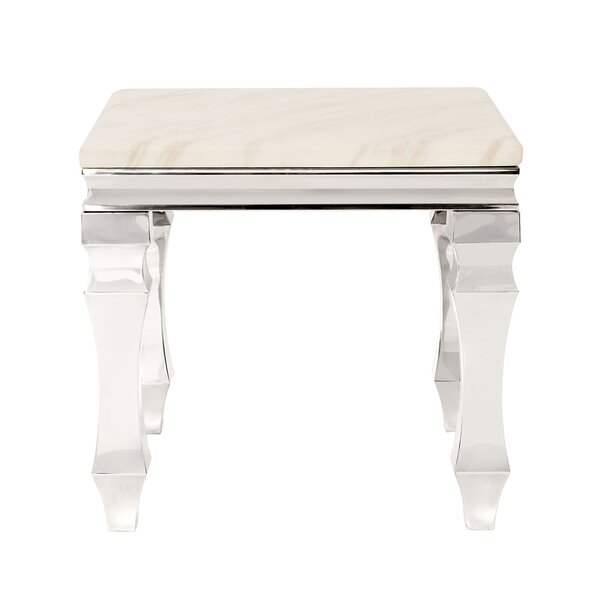 Camryn Stainless Steel End Table by Rosdorf Park