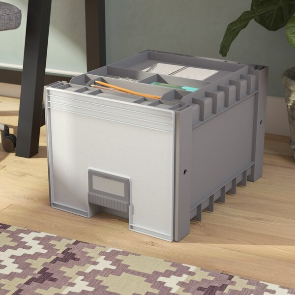 Plastic Archive Letter Size 18 1-Drawer Mobile Lateral Filing Cabinet by Rebrilliant