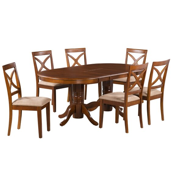 Kylie 7 Piece Extendable Solid Wood Dining Set by Alcott Hill