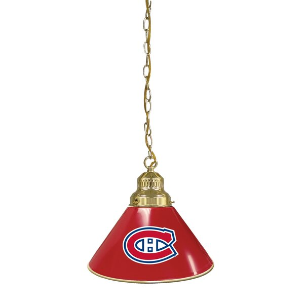 NHL 1-Light Cone Pendant by Holland Bar Stool