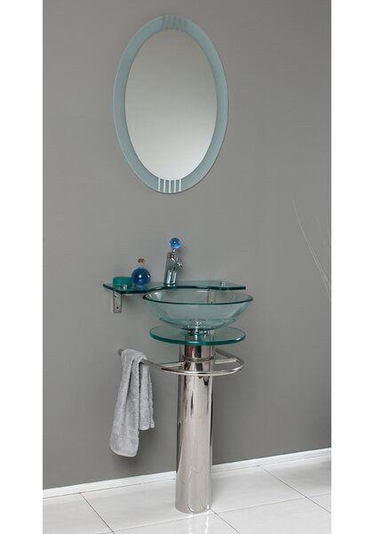 Vetro 24 Single Bathroom Vanity Set with Mirror by Fresca