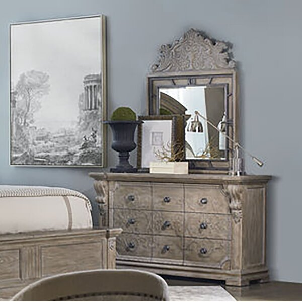 Jacey 9 Drawer Dresser with Mirror by One Allium Way