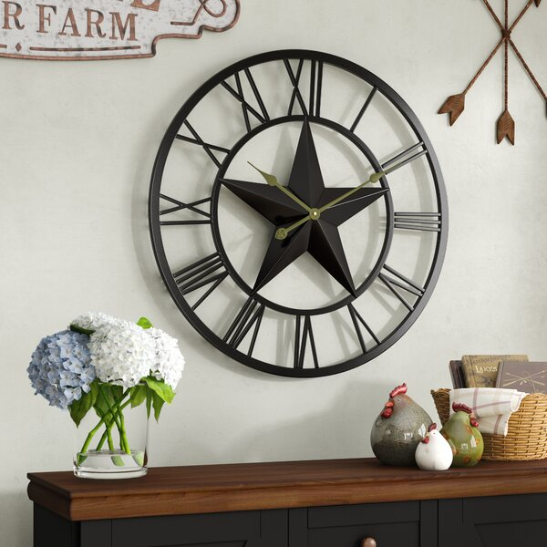 Oversized Harry 27 Wall Clock by August Grove