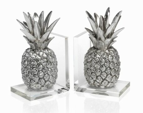 Tropical Pineapple Bookends by Zodax