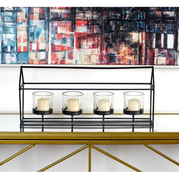 Metal and Glass Candelabra by Cole & Grey