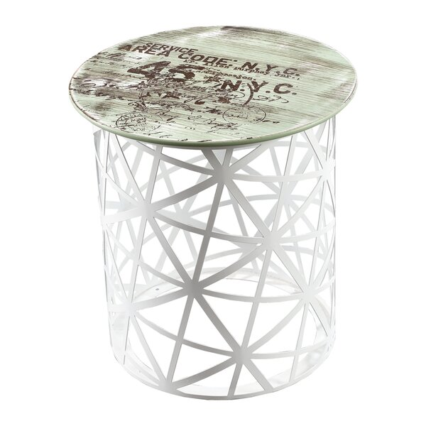 Bradley Hexa Vintage End Table by Williston Forge
