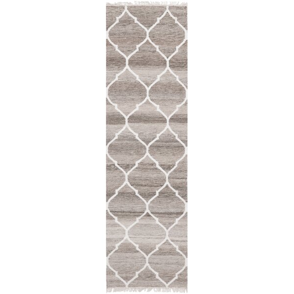 Natural Kilim Hand-Woven Light Gray/Ivory Area Rug by Safavieh