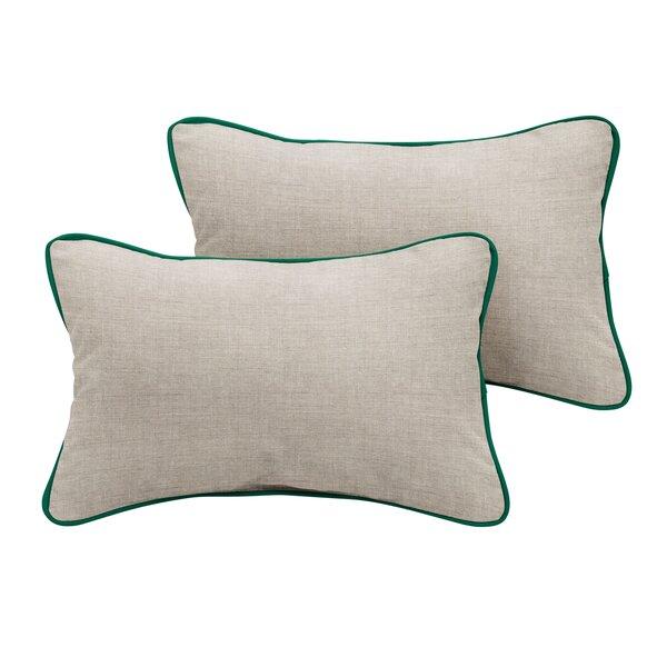 Curtiss Sunbrella Cast Outdoor Lumbar Pillow (Set of 2) by Red Barrel Studio