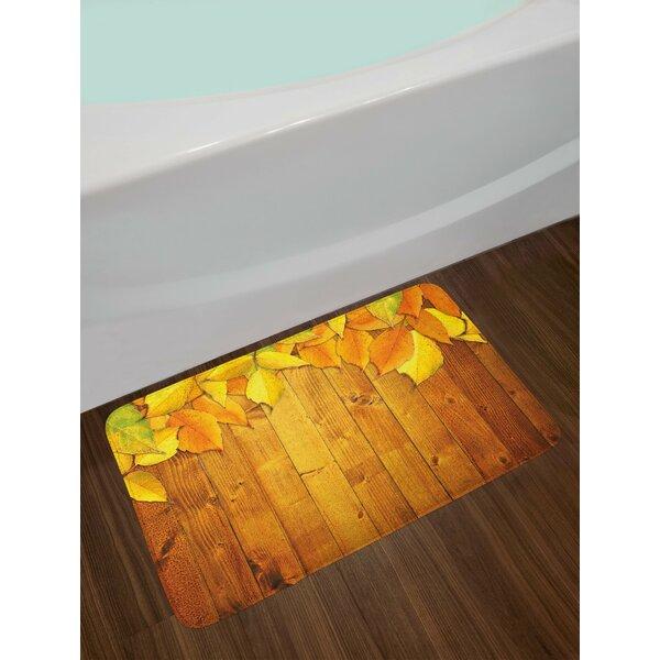 Colorful Yellow Orange Green Fall Bath Rug by East Urban Home