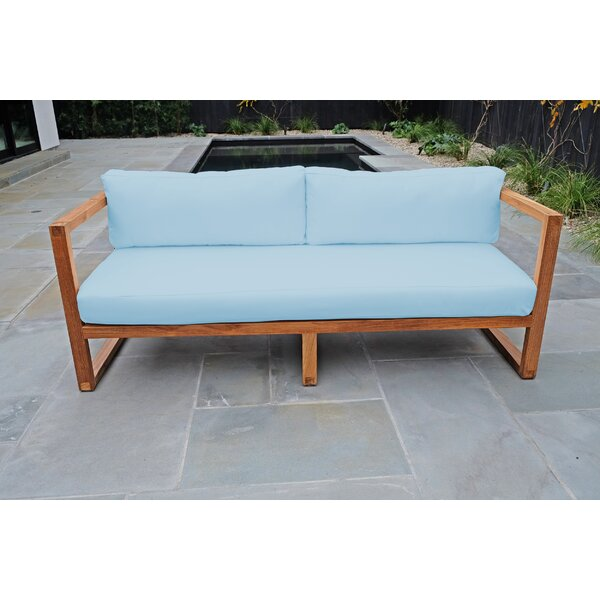 Wawona Standard Teak Patio Sofa with Sunbrella Cushions by Foundry Select