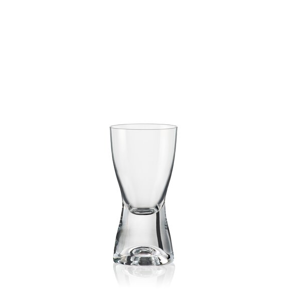 Samba 3 oz. Crystal Shot Glass (Set of 6) by David Shaw Silverware