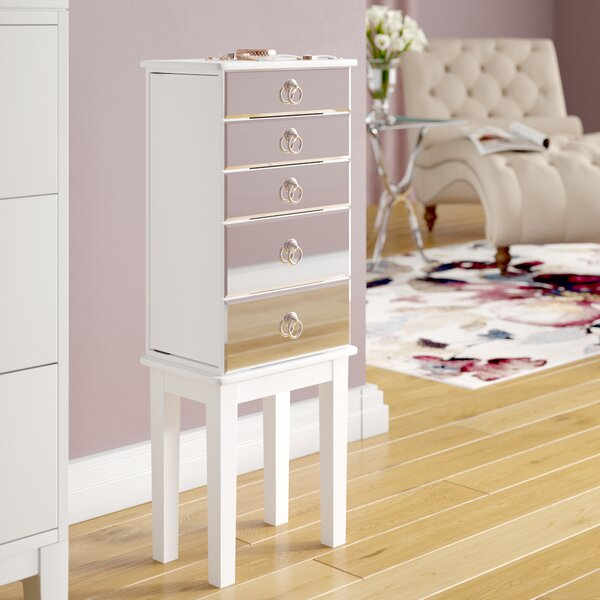 Asotin Jewelry Armoire with Mirror by House of Hampton
