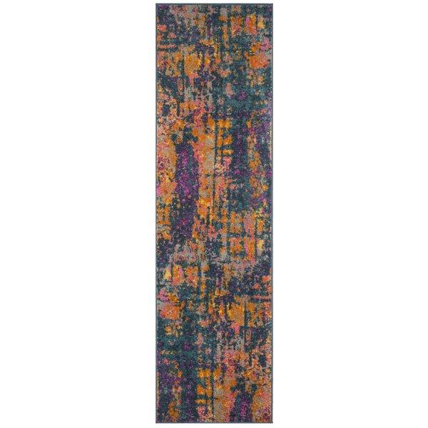Grieve Blue/Orange Area Rug by Bungalow Rose