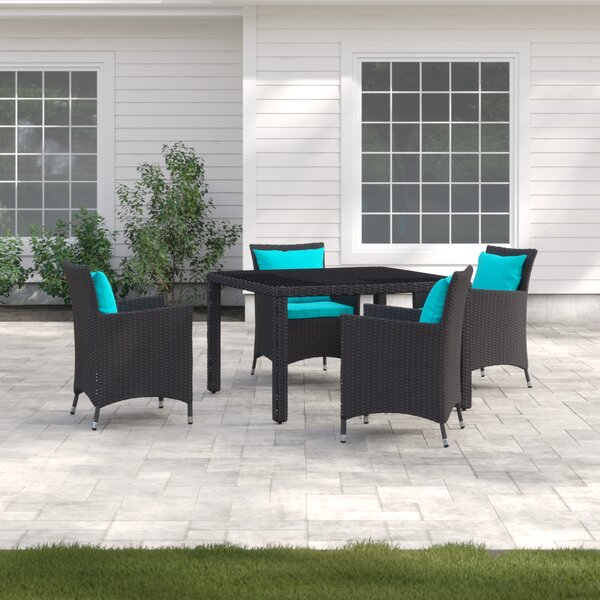 Brentwood 5 Piece Dining Set with Cushions by Sol 72 Outdoor
