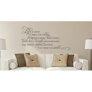 Wall Decal Quotes Words Youll Love Wayfair - Can you put vinyl wall decals on canvas