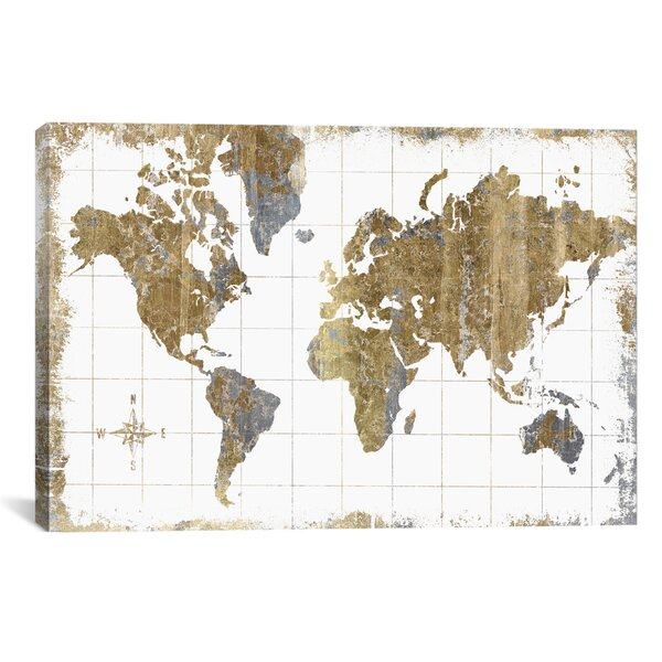 World Map Wall Art - 3d world map wall art