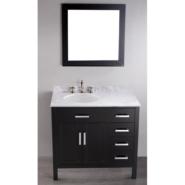 Rutland 36 Single Bathroom Vanity Set with Mirror by Latitude Run