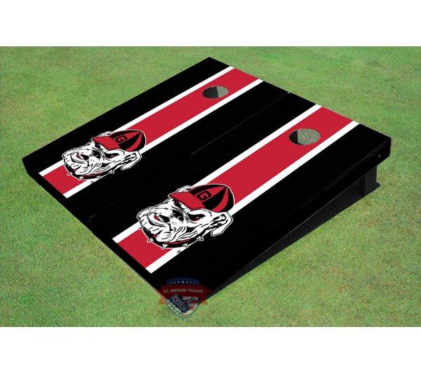 NCAA Hairy Dawg Long Stripe Cornhole Board (Set of 2) by All American Tailgate