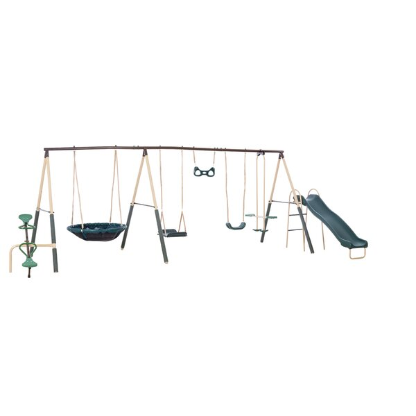Natural Playland Deerfield Playground Swing Set by XDP Recreation