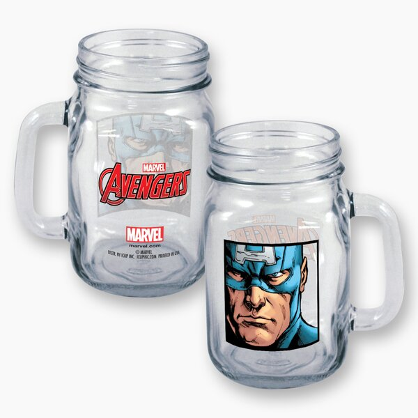Marvel Captain America Close Up 16 oz. Mason Jar by ICUP Inc