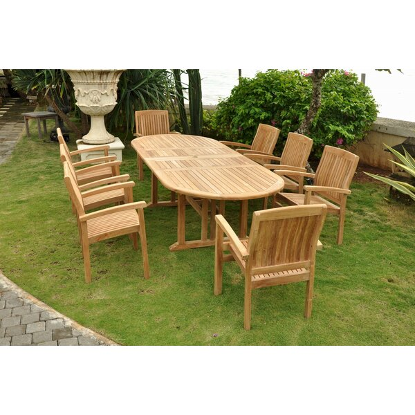 Sahara 9 Piece Teak Dining Set by Anderson Teak