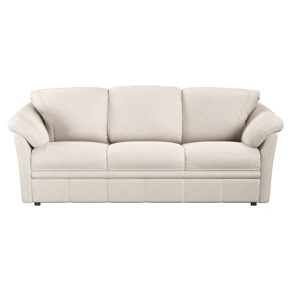 Lyons Leather Sofa Bed by Westland and Birch