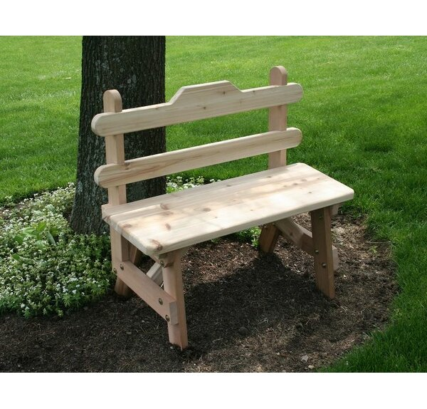 Tillison Cedar Tab Back Bench by August Grove August Grove
