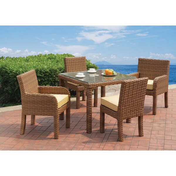 Java 5 Piece Dining Set with Cushion by South Sea Rattan