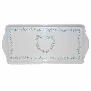 Livingware Country Cottage Melamine Tidbit Rectangle Serving Platter