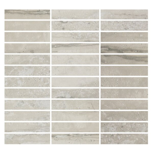 Nova 1 x 4 Procelain Mosaic Tile in Silver by Madrid Ceramics