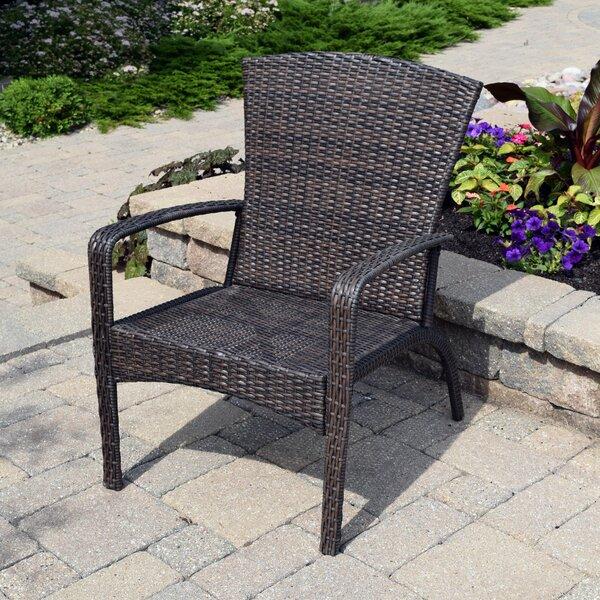 Truesdell Wicker Adirondack Chair by Breakwater Bay