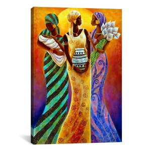 Sisters of the Sun by Keith Mallett Painting Print on Canvas by iCanvas