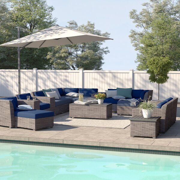 Kenwick 17 Piece Sectional Seating Group with Cushions by Sol 72 Outdoor