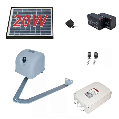 Articulated Gate Opener for Single Swing Gates 20W Solar Kit by ALEKO