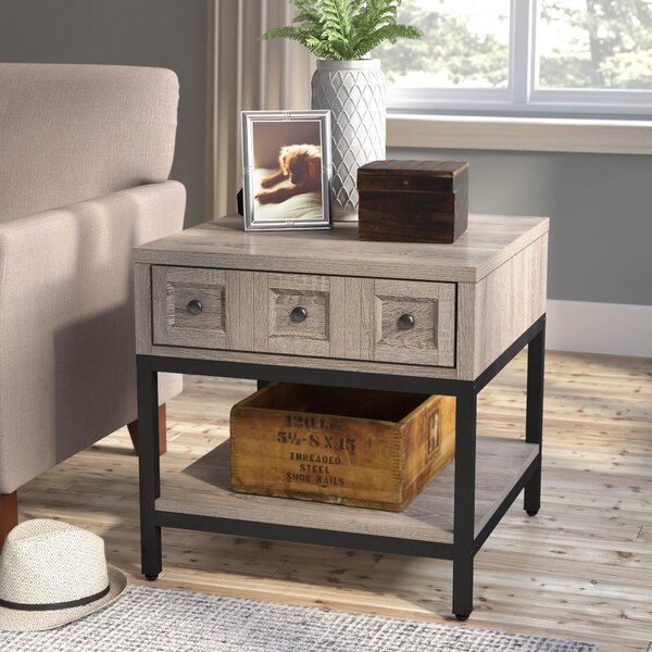 Omar End Table With Storage by Laurel Foundry Modern Farmhouse