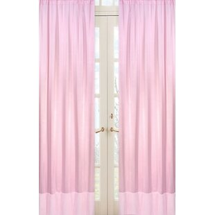 Solid Semi Sheer Rod Pocket Curtain Panels (Set Of 2)