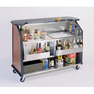 Portable Stainless Steel Beverage Kitchen Island with Laminate Top by Lakeside Manufacturing