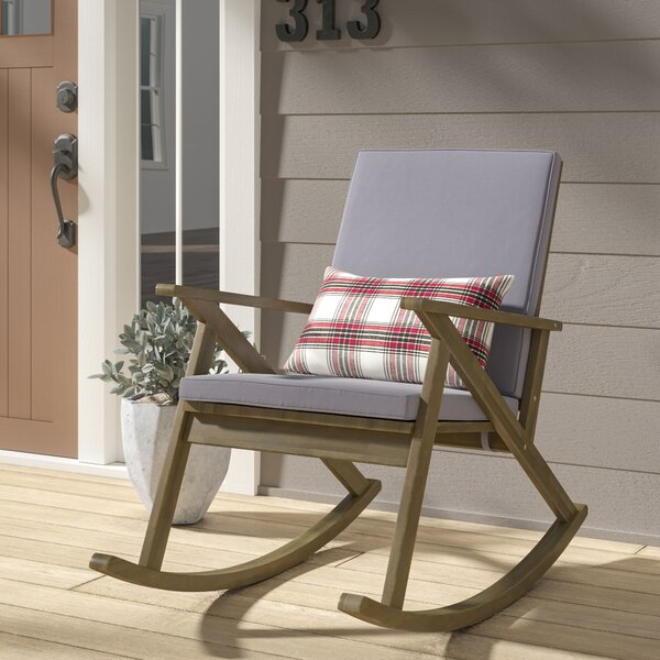 Ossu Outdoor Rocking Chair with Cushions by Union Rustic