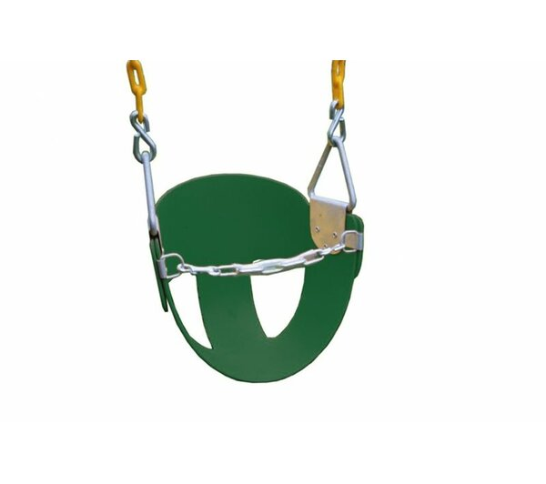 Heavy Duty High Back Half Bucket Swing with Coated Chain by Eastern Jungle Gym