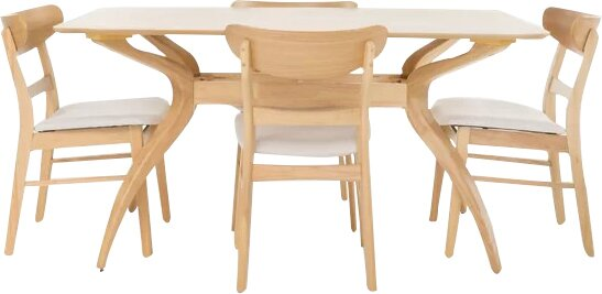 Yolanda 5 Piece Rectangular Dining Set by Langley Street