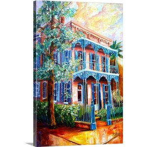 'New Orleans Garden District' by Diane Millsap Painting Print on Canvas by Canvas On Demand