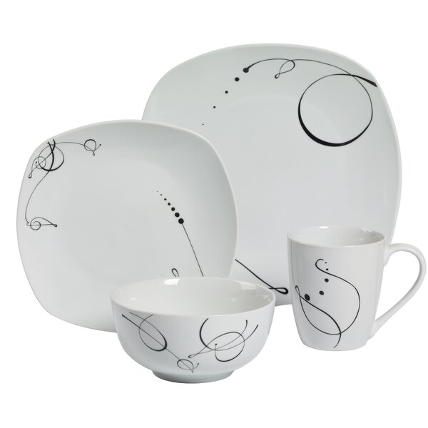 Pescara 16 Piece Dinnerware Set, Service for 4 by Tabletops Gallery