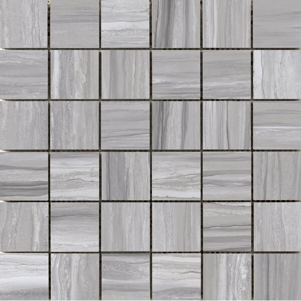 Ciudad 2 x 2 Ceramic Mosaic Tile in Gray by Emser Tile