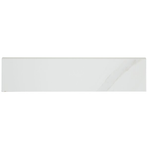 Florentine 12 x 3 Ceramic Bullnose Tile Trim in Argento by Daltile