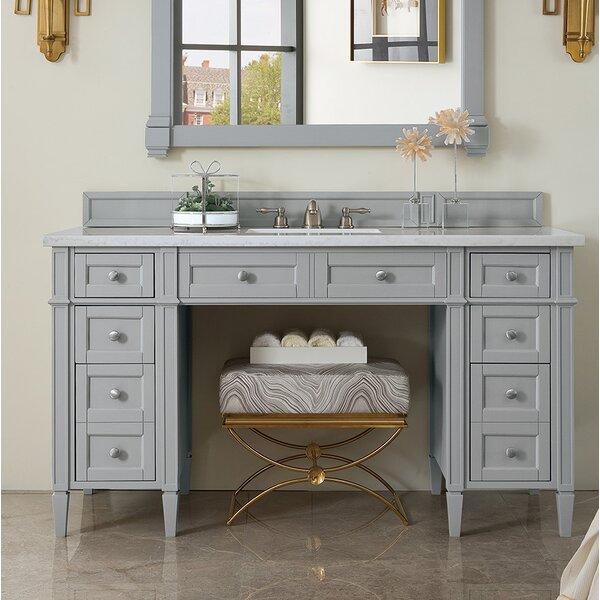 Dussault 60 Single Urban Gray Bathroom Vanity Set by Darby Home Co