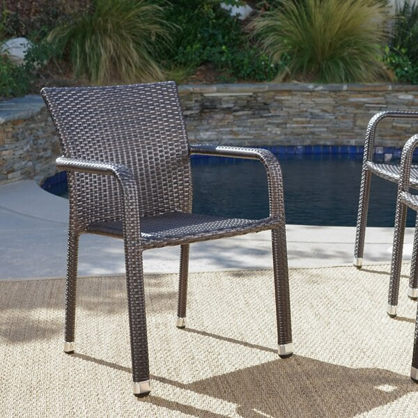 Wiersma Stacking Patio Dining Chair (Set of 4) by