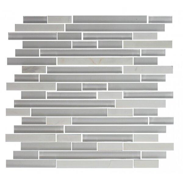 Carrera Random Sized Glass Mosaic Tile in White by Susan Jablon