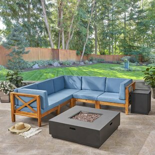 Merced 5 Piece Sectional Seating Group with Cushions ByLongshore Tides