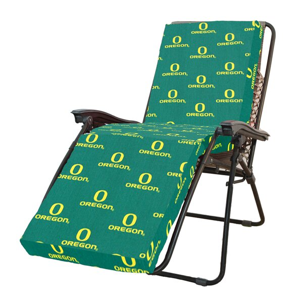 NCAA Oregon Indoor/Outdoor Chaise Lounge Cushion by College Covers